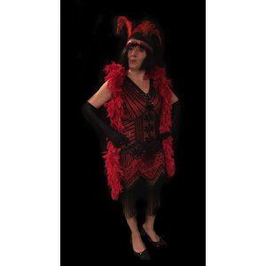 Charleston kjole rød