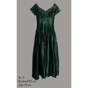 Grøn victoriansk kjole