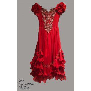 Victoriansk roed kjole