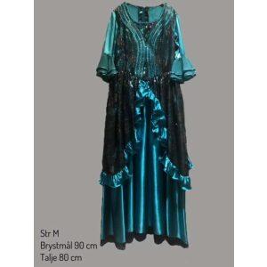 Historisk kjole turkis