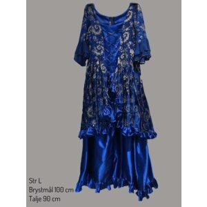 Rokoko kjole blå str. L
