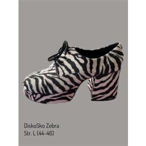 Sko zebra plateau sko
