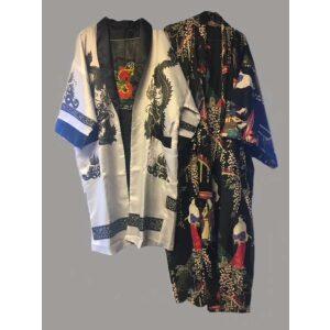 Kimono hvid og sort