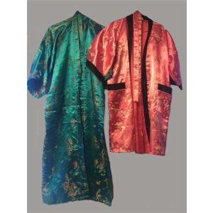 Kimono rød og grøn