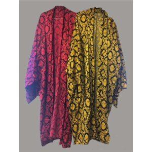Kimono rød gul